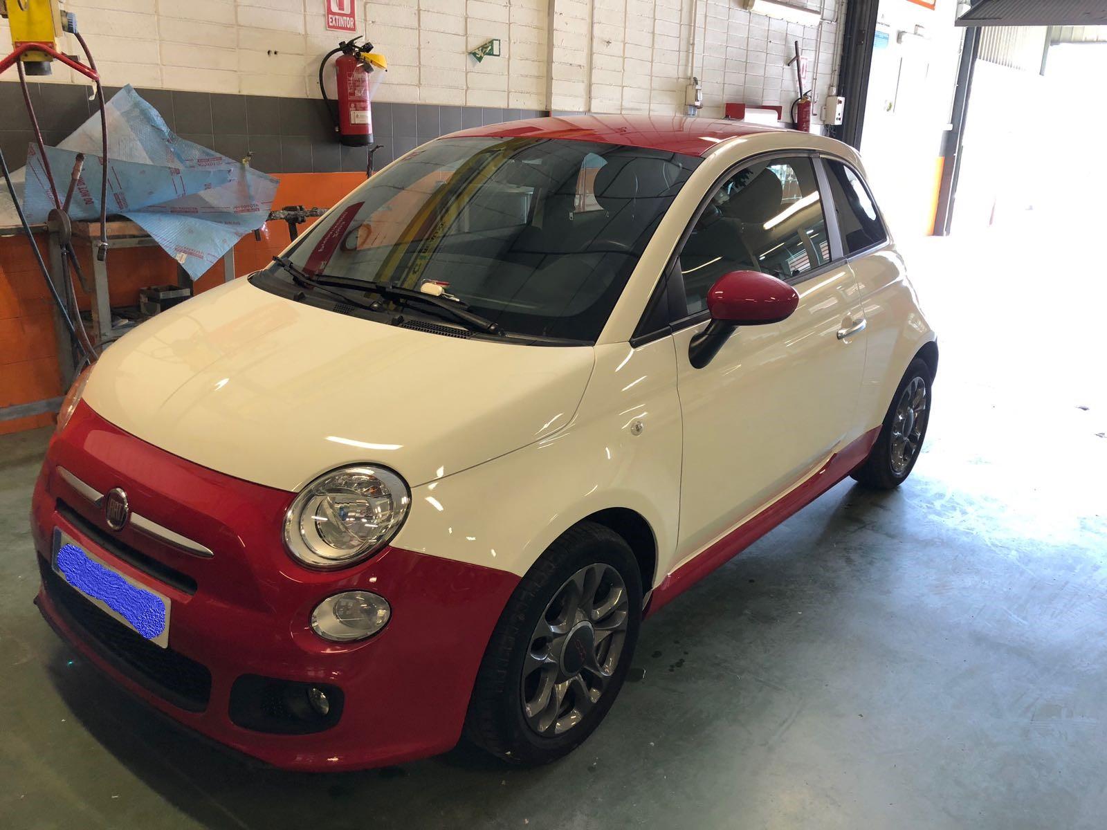 Reparaci U00f3n De Chapa Y Pintura En Un Fiat 500